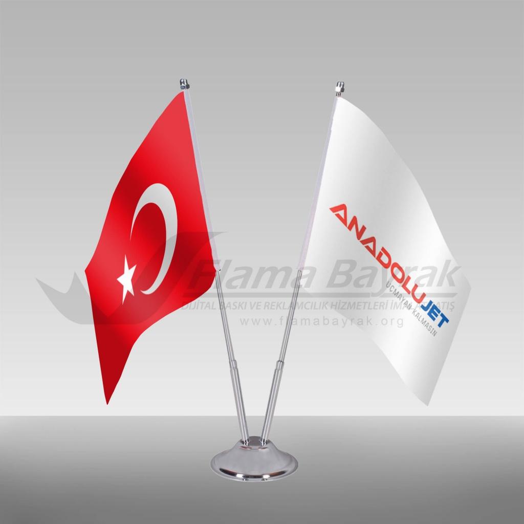 2 li masa bayrağı - anadolujet