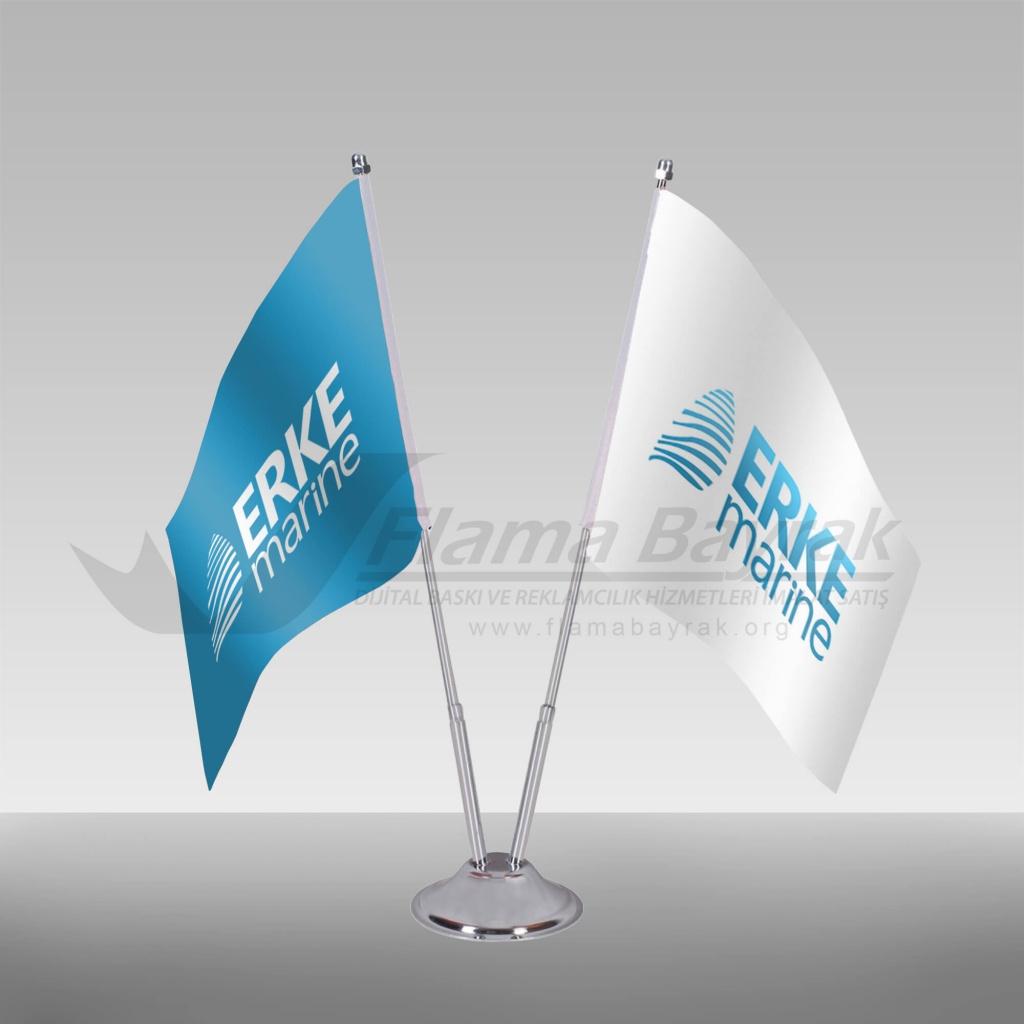 2 li masa bayrağı - erkemarine